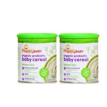 2罐*美国禧贝米糊/happybaby 1段(绿色)有机糙米营养米粉婴儿辅食米糊198g【香港直邮】