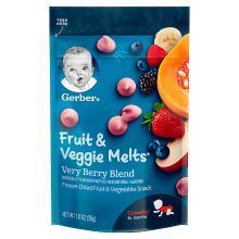 【香港直邮】嘉宝Gerber婴幼儿辅食 水果蔬菜酸奶溶豆宝宝零食 三段 8个月以上 28g