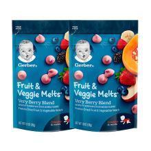 2袋装【香港直邮】嘉宝Gerber婴幼儿辅食 水果蔬菜酸奶溶豆宝宝零食 三段 8个月以上 28g