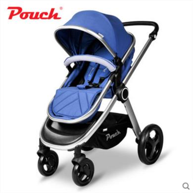 Pouch嬰兒推車高景觀便攜寶寶手推車嬰兒車推車折疊可坐可躺兒童P70