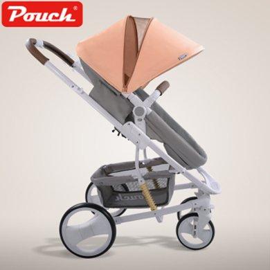 Pouch婴儿推车高景观可坐?#21830;?#21452;向儿童手推车可折叠轻便宝宝推车P35