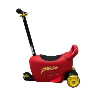 POUCH 帛琦 兒童滑板車可做可站兩用溜溜車閃光滑輪滑板車3-5歲滑板車LB1502