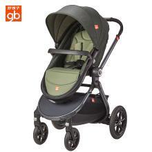 好孩子(gb) 婴儿车推车可坐可躺轻便宝宝高景观婴儿折叠推车幼儿避震推车 GB592