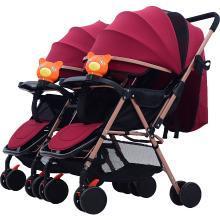 英莱儿 双胞胎婴儿推车可拆分双向双人轻便可坐可躺折叠三胞胎手推车sbc7