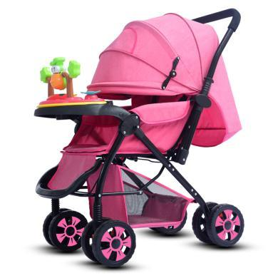 英萊兒 高景觀加寬加長嬰兒推車可坐躺折疊嬰兒車四季通用寶寶手推車sbc2