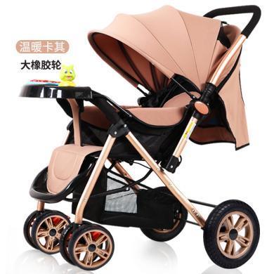 英萊兒 高景觀嬰兒推車可坐可躺輕便折疊便攜新生兒童寶寶手推車s19