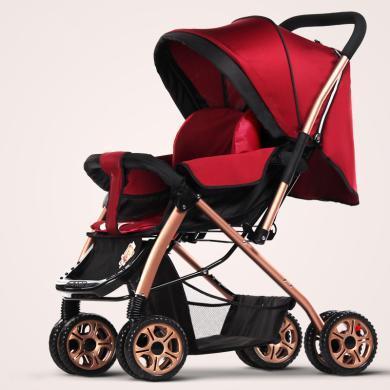 英萊兒 嬰兒車輕便避震雙向嬰兒手推車可坐躺折疊豪華版s21