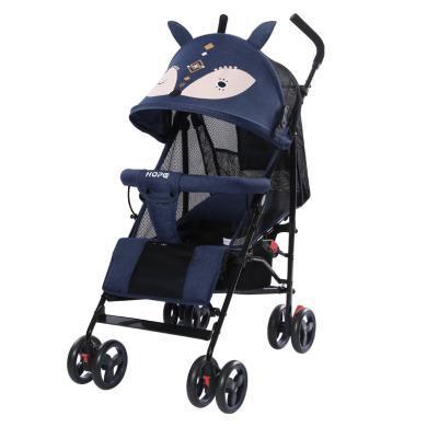 呵寶 夏季嬰兒車小狐貍輕便折疊童車 可躺可坐避震兒童手推車超輕便攜