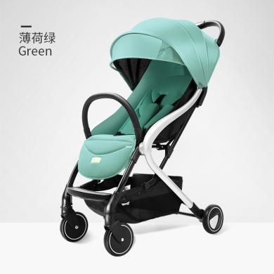 Pouch婴儿车折叠可坐可躺儿童手推车超轻便透气加宽减震四季宝宝车A70款