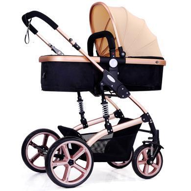 英萊兒 高景觀嬰兒推車可坐可躺嬰兒車bb寶寶推車折疊雙向避震兒童手推車 sbc32