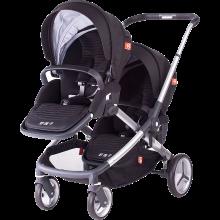 好孩子(gb)婴儿推车双胞胎宝宝多功能调节手推车单双座可调S2018 双子推车