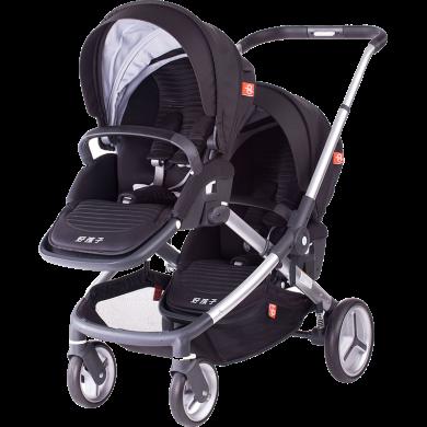 好孩子(gb)嬰兒推車雙胞胎寶寶多功能調節手推車單雙座可調S2018 雙子推車