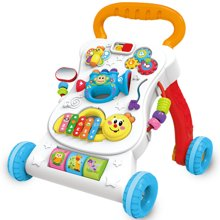 儿童?#36866;?#30410;智学步车宝宝婴幼儿玩具礼物婴儿多功能音乐学步手推车YZDZ406
