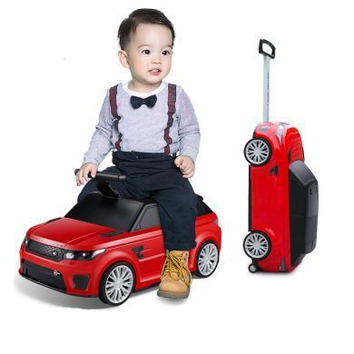 英萊兒 新款兒童拉桿箱可坐可騎行李箱小孩登機箱滑行車卡通箱包xbc7
