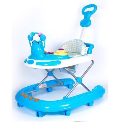 英萊兒 嬰兒童學步車6/7-18個月寶寶防側翻多功能手推可坐折疊幼兒腳步車xbc5