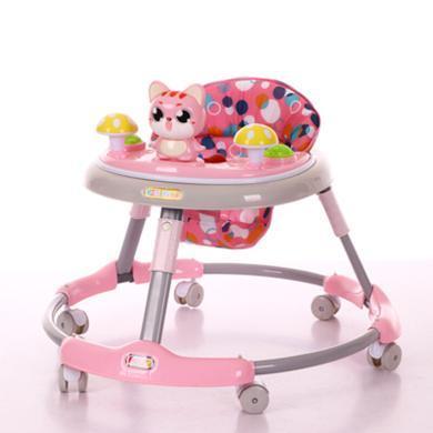 英萊兒 嬰兒學步車助步車寶寶帶音樂餐盤可折疊調節高度手推防側翻xbc18