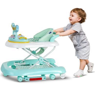 英萊兒 嬰兒學步車男寶寶女孩防側翻折疊多功能兒童小孩嬰幼兒學行車手推助步車帶音樂避震靜音輪學步椅xbc8