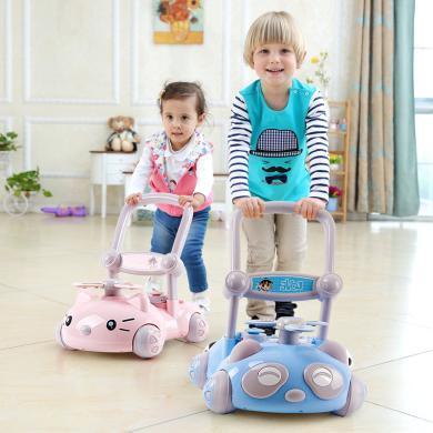 英萊兒 帶音樂寶寶學步車多功能可調速升降助步車嬰兒6-18個月防側翻xbc2
