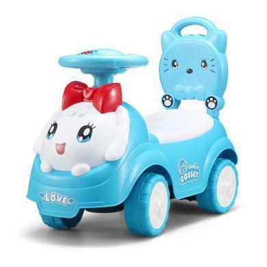 鋒達兒童扭扭車寶寶滑行車帶音樂四輪溜溜車小孩平衡助步童車玩具