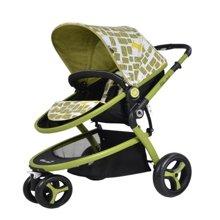 Gubi 咕比EVA轮式婴儿手推车H315B(正反双方向/可平躺/小型收纳/大容量)双子座
