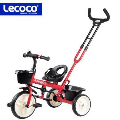 lecoco樂卡兒童三輪車腳踏自行車1-3-2-6歲寶寶嬰兒手推車童車