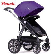 Pouch婴儿推车童车高景观避震推行轻便可坐躺可折叠P69