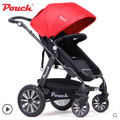 德國Pouch帛琦p680旗艦版嬰兒推車兒童推車高景觀寶寶推車嬰兒車推車可坐可躺折疊夏0-3歲兒童適用