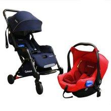 德国quintus昆塔斯Goolz3轻便可登机婴儿推车N77+提篮式安全座椅组合装新生婴儿可坐躺轻便折叠 可坐可躺 三合一