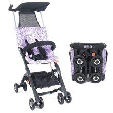 好孩子口袋车POCKIT Ⅰ代超轻便婴儿推车旅行便携折叠登机宝宝伞车(D666A-浅紫色)