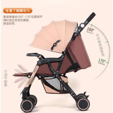 英萊兒 嬰兒推車輕便高景觀嬰兒車可坐可躺折疊避震寶寶兒童便攜手推車stc28