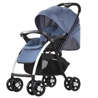 宝高景观婴儿推车可坐可躺双向避震儿童折叠手推车轻便宝宝车冬