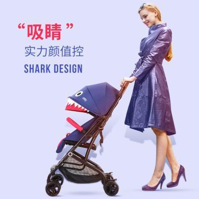 英莱儿 婴儿车可坐?#21830;筛?#26223;观宝宝手推车可上飞机轻便避震伞车折叠 stc22