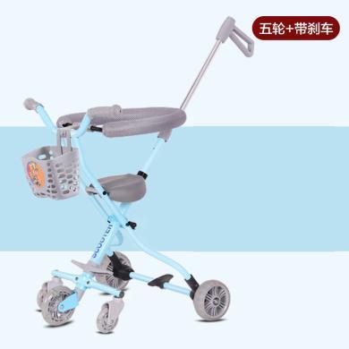 英莱儿 新款铝合金遛娃神器儿童三轮折叠手推车童车工厂直销溜娃神器 etddc57