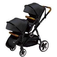 德国Quintus昆塔斯Duetpro双子座双座婴幼儿推车 6-36个月 双胞胎婴儿推车可拆分可坐躺轻便双人
