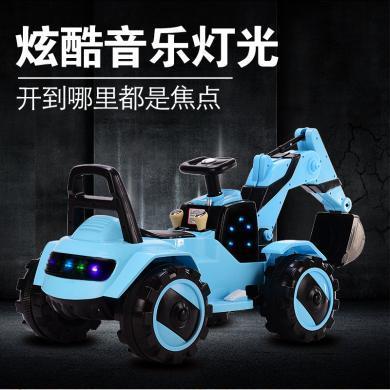英萊兒 電動滑行挖掘機男孩玩具挖土機可坐可騎大號鉤機工程車玩具車ddc9