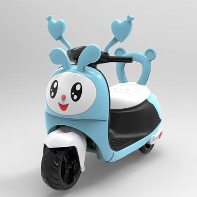 英萊兒 新款兒童卡通豬電動摩托三輪車寶寶卡通電瓶童車男女孩幼童玩具車zxc1