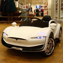 英莱儿 特斯拉电动车 儿童遥控汽车可坐人四轮玩具汽车宝宝男孩女孩电瓶遥控汽车ddc30