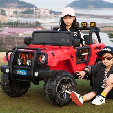 英萊兒 四驅雙座大兒童電動車四輪可坐人搖擺童車遙控越野汽車兒童車玩具車ddc19