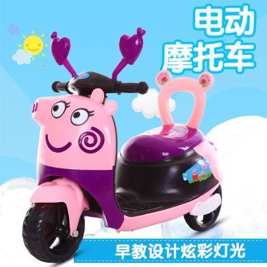 英萊兒 摩托車寶寶三輪車男女小孩玩具車可坐人電瓶車ddc5