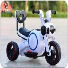 英萊兒 新款兒童電動摩托三輪車 加大款音樂燈光小孩玩具車 超炫低音炮車 ddc8
