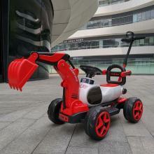 薩瑪特兒童全電動滑行挖掘機男孩玩具車挖土機可坐可騎可推行LXX-SMT9188(紅橙兩色,備注要哪個)