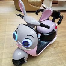 新款朱迪兔儿童电动摩托车宝宝电?#23458;的信?#23401;可坐骑玩具车安全带LXX-HLM5188