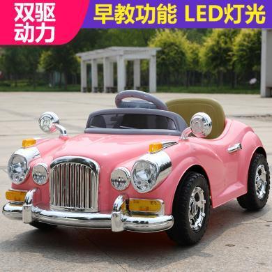 英萊兒 新款兒童電動車老爺車小汽車四輪遙控汽車兒童玩具車可坐人 etddc50