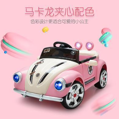 英莱儿 厂家直销新款婴儿电动车遥控四轮玩具可坐人老爷车公主粉儿童汽车 etddc49
