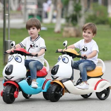 英萊兒 兒童電動車摩托車1-3-6歲寶寶電動三輪車小孩玩具車可充電可坐人 etddc53