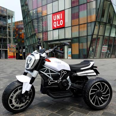 英萊兒 新款大號兒童電動摩托車三輪電瓶車男女寶寶可坐人童車 etddc52