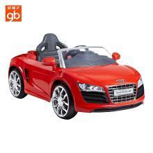 好孩子(gb) 奧迪兒童電動車童車四輪男女遙控汽玩具車可坐寶寶電動汽車W499QG 紅色