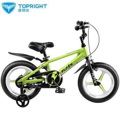 Topright途锐达闪电儿童自行车单车脚踏车12寸14寸16寸18寸男女宝宝3-8岁一体轮单车童车