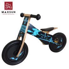 maxsun儿童平衡车木制滑行学步车德国小木车火焰车儿童童车