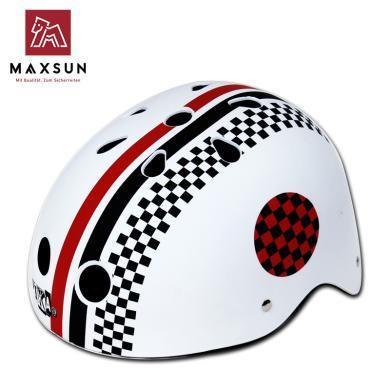 maxsun 儿童头盔轮滑童车护具摩托车头盔男孩女孩可调节头围